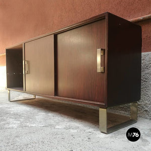 Rosewood sideboard with two sliding doors, 1960s