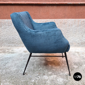 Small velvet armchair, 1960s
