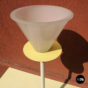 White and yellow table lamp, 1980s