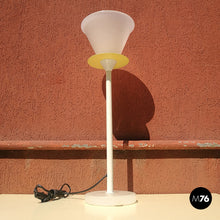 Load image into Gallery viewer, White and yellow table lamp, 1980s