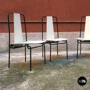 Set of 4 chairs by Adalberto Del Lago, 1980s