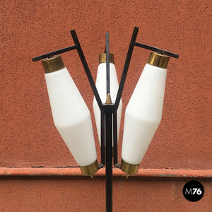 Three lights floor lamp, 1950s