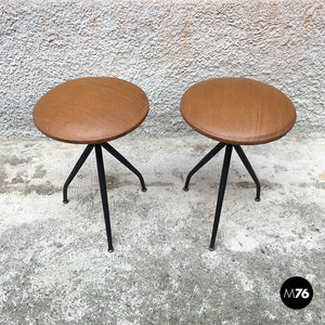 Set of 2 sky stools, 1960s