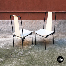 Load image into Gallery viewer, Set of 4 chairs by Adalberto Del Lago, 1980s