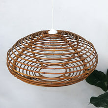 Load image into Gallery viewer, Rattan ceiling lamp, 1960s