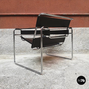 Wassily armchair by Marcel Breuer and produced by Gavina in 1968.
