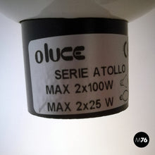 Load image into Gallery viewer, Adjustable glass Atollo lamp by Vico Magistretti for Oluce, 1969