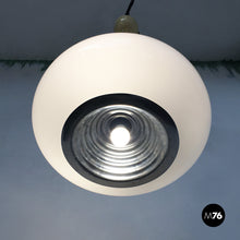 Load image into Gallery viewer, Black and White chandelier by Achille and Piergiacomo Castiglioni for Flos, 1965