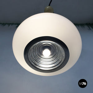 Black and White chandelier by Achille and Piergiacomo Castiglioni for Flos, 1965