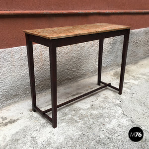 Rosewood and marble console, 1950s