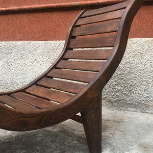 Chaise longue in teak, 1960s