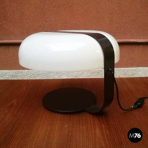 Brown and white table lamp, 1970s