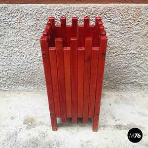 Red umbrella stand by Ettore Sottsass for Poltronova, 1961