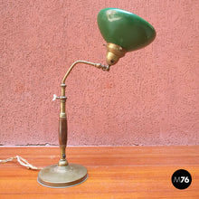 Load image into Gallery viewer, Ministerial table lamp in wood and metal, 1920s