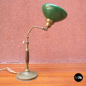 Ministerial table lamp in wood and metal, 1920s