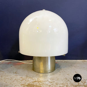 Chromed table lamp by Mazzega, 1970s