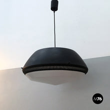 Load image into Gallery viewer, Black enamelled metal chandelier by Gio Ponti for Greco, 1950s