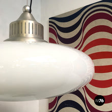 Load image into Gallery viewer, Opaline glass chandelier, 1960s