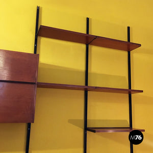 Wall bookcase E22 by Osvaldo Borsani for Tecno, 1960s