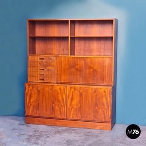 Scandinavian teak highboard, 1960s