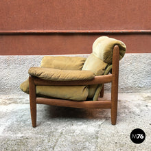 Load image into Gallery viewer, Danish armchair with pouf, 1960