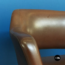 Load image into Gallery viewer, Set of brown leather armchairs by Cassina, 1970s
