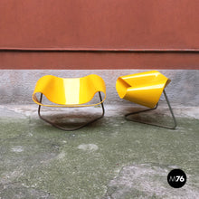 Load image into Gallery viewer, Yellow Nastro armchairs by Franca Stagi e Cesare Leonardi for Bernini, 1960