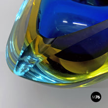 Load image into Gallery viewer, Blue Murano glass ashtray, 1970s