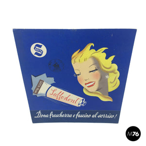 Saffa carton toothpaste advertising, 1950s
