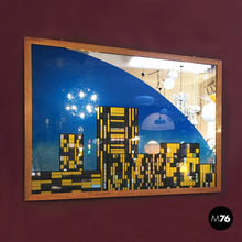 Load image into Gallery viewer, Decorative big mirror representing Manhattan, 1980s