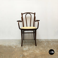 Load image into Gallery viewer, Wood and Vienna straw chair by Thonet, 1900s