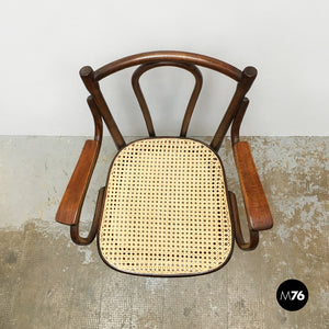 Wood and Vienna straw chair by Thonet, 1900s