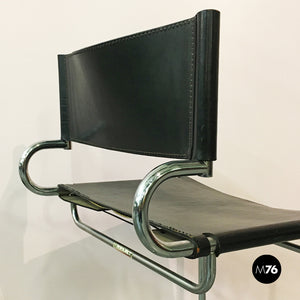 Black leather chair by Arrmet, 1970s
