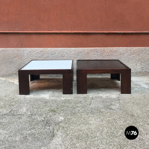 Set of two coffee table by Afra and Tobia Scarpa for Cassina, 1970s
