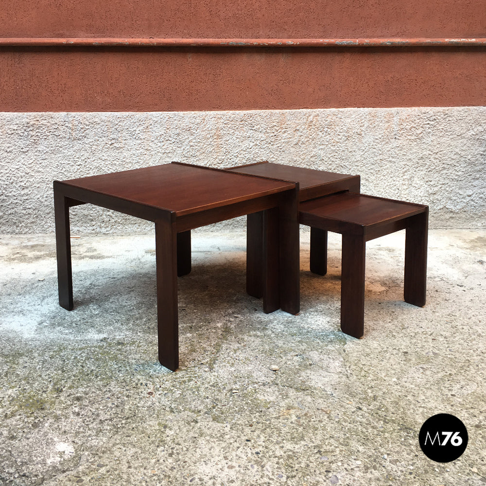 Set of three coffee tables mod.777 by Afra and Tobia Scarpa for Cassina, 1965
