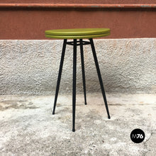 Load image into Gallery viewer, Small bar table with round green top, 1950s