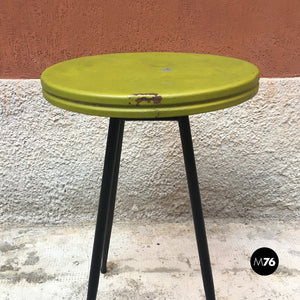 Small bar table with round green top, 1950s