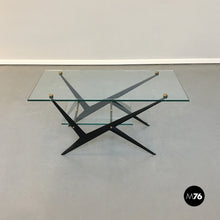 Load image into Gallery viewer, Glass and iron coffee table by Angelo Ostuni, 1950s