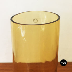 Set of yellow blown Murano glass vases by Carlo Nason, 1970s