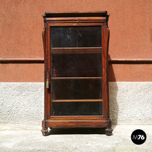 Load image into Gallery viewer, Antique English mahogany showcase, 1800s.