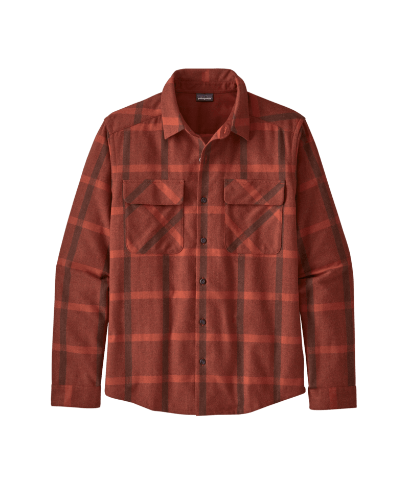M's Long Sleeve Recycled Wool Shirt - Patagonia Bend