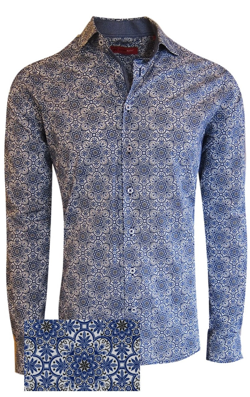 Tarzana 37017 -020 Mens Long Sleeves Liberty Kaleidoscope