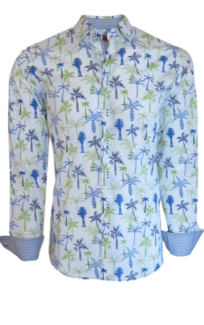 Boca Raton 37037-020 Long Sleeve Palm Pattern