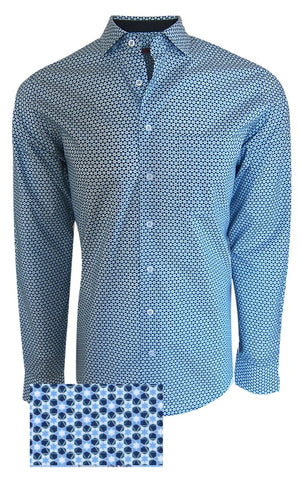 Austin 37045-020 Long Sleeve Mini Navy & Aqua