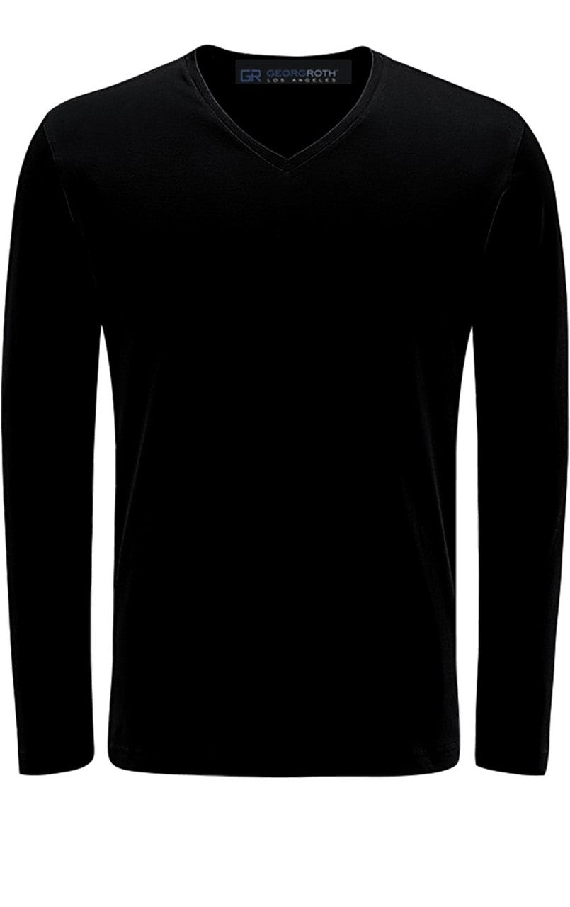Luxury V--Neck Long Sleeves Pima Cotton TVLS-5013