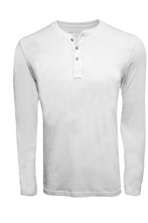 Luxury Henley Long Sleeves Pima Cotton THLS1013