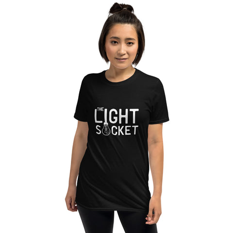 The Light Socket Short-Sleeve Unisex T-Shirt (Black)