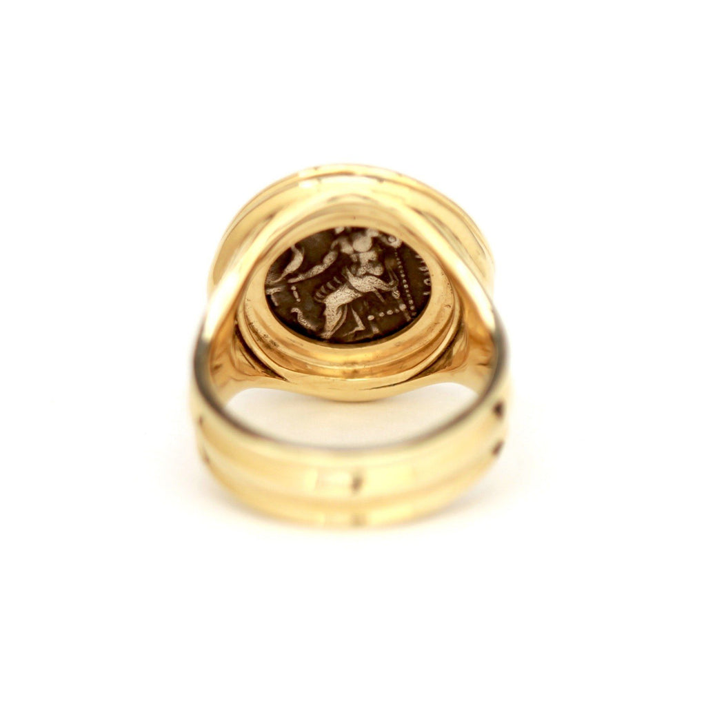 Alexander the Great Coin, Gold Ring, Genuine Ancient Coin w/ Certificate ID13084 - Erez Ancient Coin Jewelry