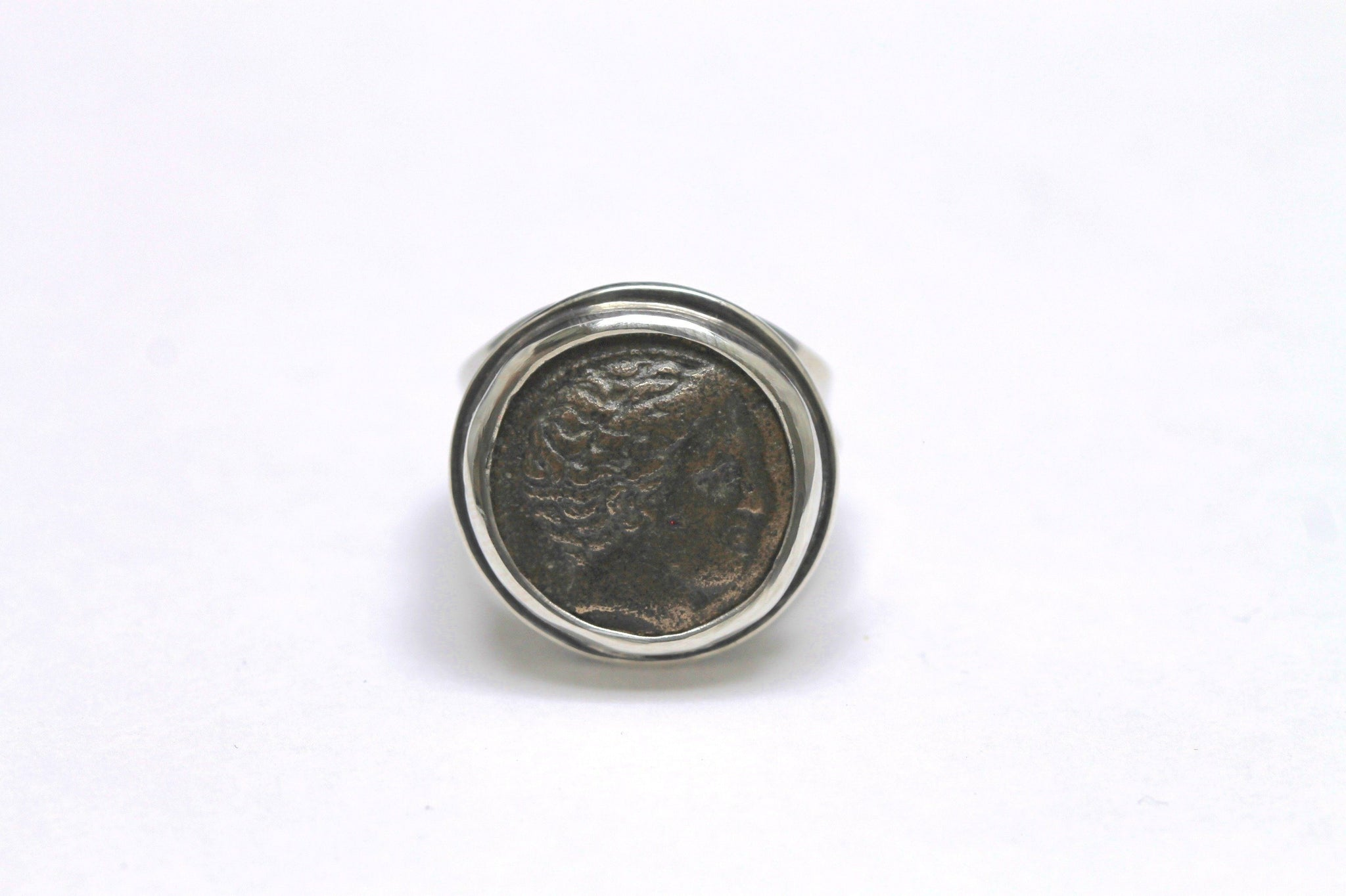 Phallana Greek Coin, Sterling Silver Ring, Big Ring, Genuine Ancienct Coin, 6881 - Erez Ancient Coin Jewelry