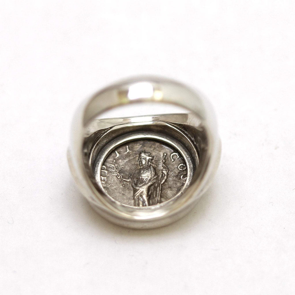 Silver Ring, Severus Alexander Coin, ID13315